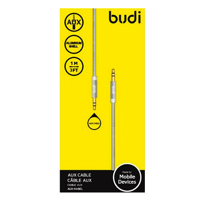 Budi AUX Metal Spring Cable With Metal Shell - M8J130