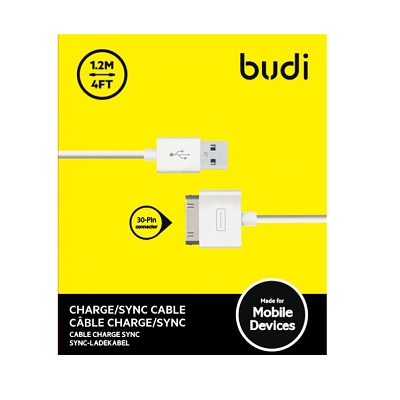 Budi iPhone 4 USB Charger Cable M8J168
