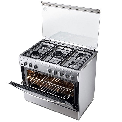 LG 5 Gas Burner Cooker Silver Color LGSTOVE98V20S