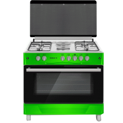 LG Gas Cooker Table Top 4 Burners With 2 Electric Plate GREEN MAXI160LG